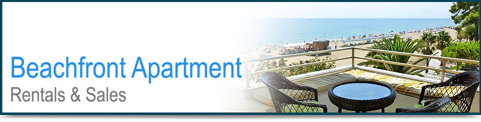 Beachfront apartment rentals